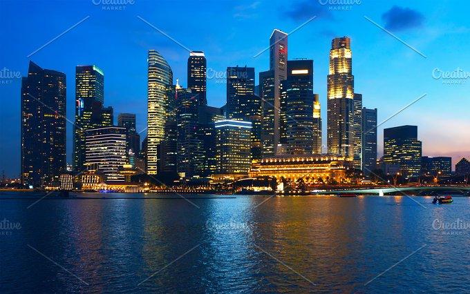 Beautiful sunset view to night Singapore.jpg - Photos