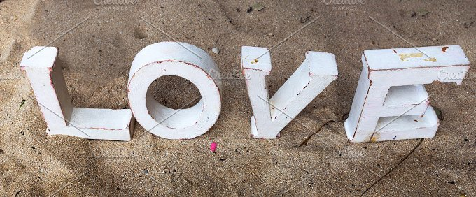 The word love on sand.jpg - Photos