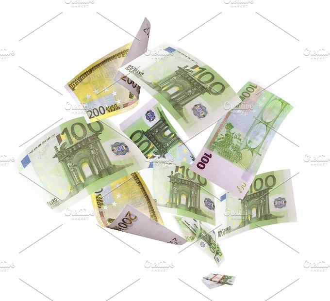 Falling euros on white background.jpg - Business