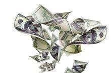 Falling dollars isolated on white background.jpg