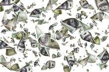 Flying dollars isolated on white background.jpg