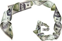 Spiral of dollars on white background.jpg