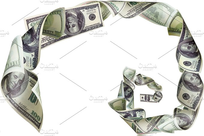 Spiral of dollars on white background.jpg - Business