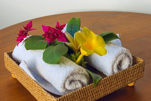 Towels with red and yelow flowers.jpg