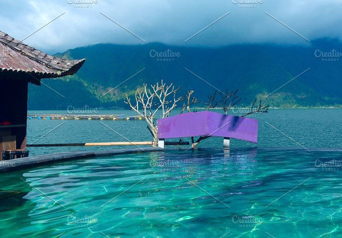 Swimming pool with a view of the mountain.jpg - Nature
