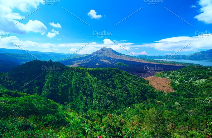 Panoramic view to the sacred mountain on Bali.jpg - Nature