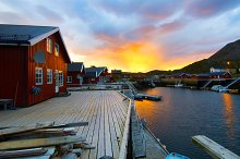 Sunrise on the Norwegian island.jpg