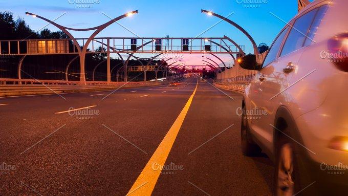 An express road at dusk.jpg - Transportation