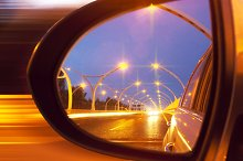 Reflection of high-way on car mirror.jpg