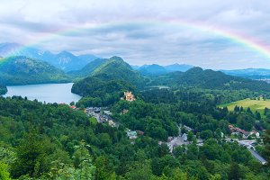 Rainbow over the castle in Bavaria.jpg
