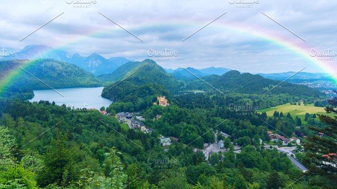Rainbow over the castle in Bavaria.jpg - Nature