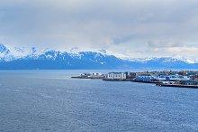 Norwegian town on Lofoten islands in cloudy day.jpg