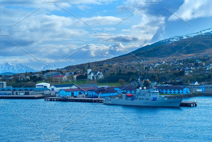 Mountain landscape with warship.jpg - Transportation