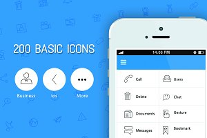 Stroke Icons (200) for web & mobile