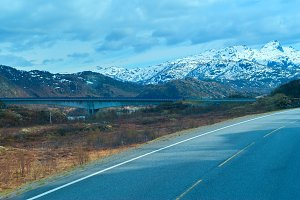 Bridge on the Norwegian road in the mountains.jpg