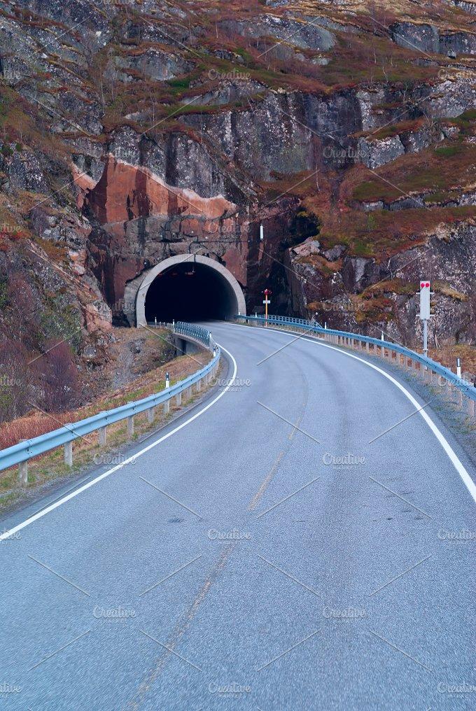 Tunnel on the norwegian mountain road (2).jpg - Transportation