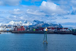 Town Svolvaer on norwegian Lofoten islands in sunny day.jpg