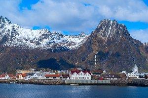 Norwegian town Svolvaer on Lofoten in sunny day.jpg