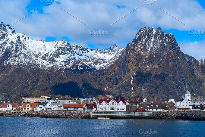 Norwegian town Svolvaer on Lofoten in sunny day.jpg - Nature
