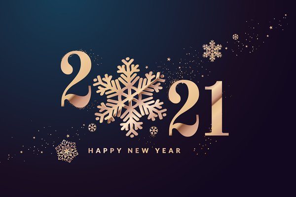 Happy New Year 2021 Greeting Card | Pre-Designed ...