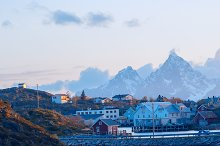 Norwegian village on the Lofoten islands in the evening.jpg