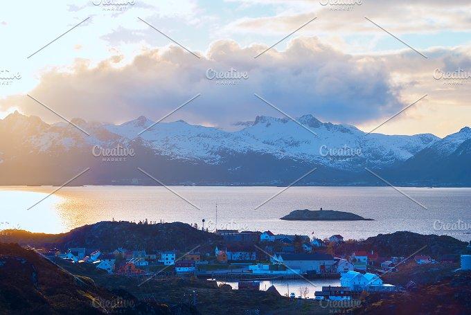 Top view of Lofoten island Skrova in evening.jpg - Nature