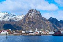 Norwegian town Svolvaer on Lofoten islands in sunny day.jpg
