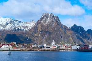 Norwegian town Svolvaer on Lofoten islands in sunny day.jpg