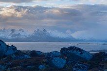 Evening view of the mountain on the island Skrova on the Lofoten.jpg