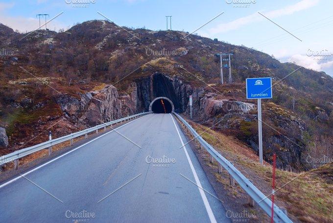 Tunnel on the norwegian mountain road (3).jpg - Transportation
