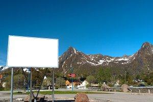White big bilboard on the norwegian road in sunny day.jpg