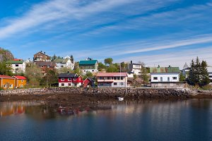 Village on the norwegian island in sunny day.jpg