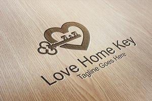 Love Home Key - Logo Template