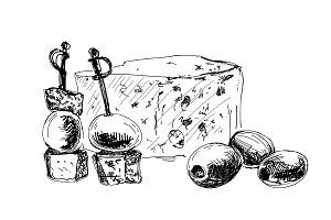 Dorblu. Hand drawn illustration