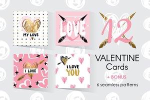 Set of 12 Valentine Cards