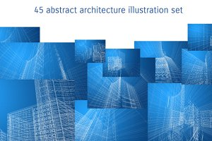 Abstract architecture illustrations