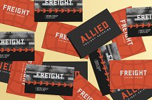 Freight | A Geometric Slab Serif by  in Fonts