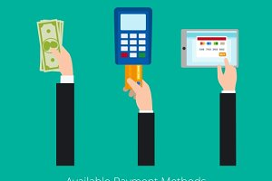 Payment options vector concept