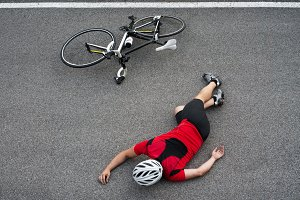Unconscious cyclist in the road.jpg