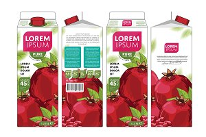 Packaging Design Pomegranate Juice