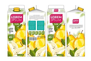 Packaging Design Pear Juice