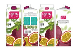 Packaging Design Passion Fruit Juice
