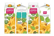 Packaging Design Apricot Juice
