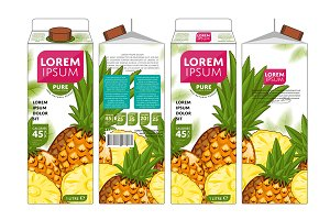 Packaging Design Pineapple Juice