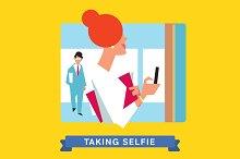 Take a photo selfie.