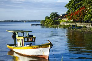Boat on sea   Brazil coast