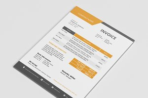 Docx business invoice design