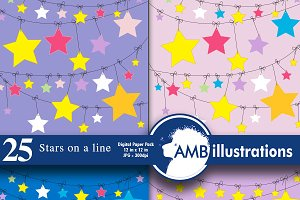 Digital Papers Stars on line AMB-316