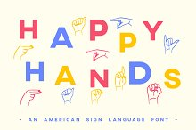 ASL Font American Sign Language Type by  in Fonts