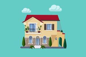 House Flat style vector